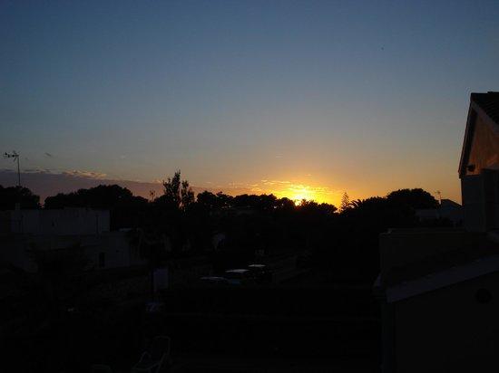 Villas Amarillas: Sunset from the Balcony
