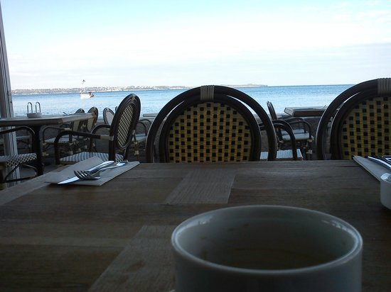 Hotel Piran: View from breakfast table