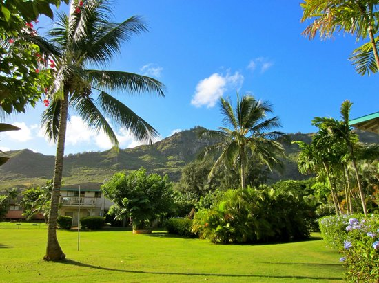 The Kauai Inn: The view from the lanai