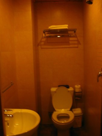 Hantangyi International Youth Hostel Xi'an: Shower almost right above the toilet