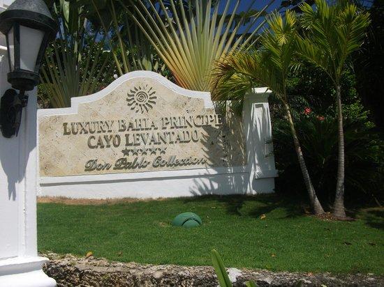 Luxury Bahia Principe Cayo Levantado Don Pablo Collection: hotel sign