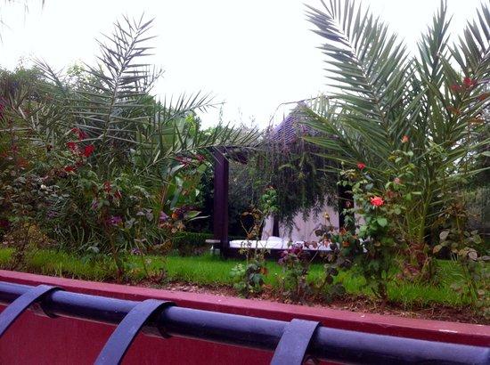 Palais Jena & Spa: Vue de la terrasse du petit dej