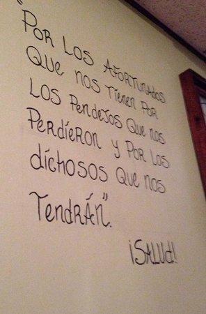 Cielito Lindo : writing on the wall