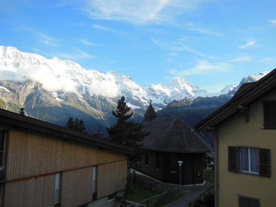 Hotel Jungfrau: View from our deck