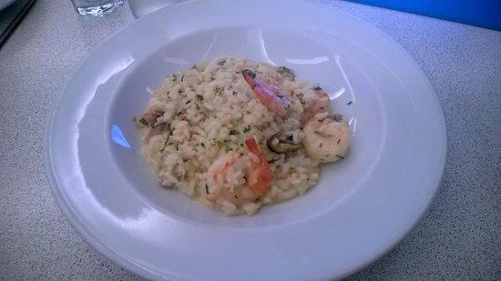 Carluccio's: seafood risotto
