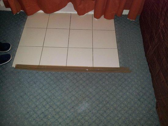 SilverOaks Resort Heritage: tape on floor