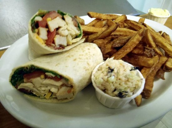 Saltspray Cafe Too: Chicken Club Wrap Platter