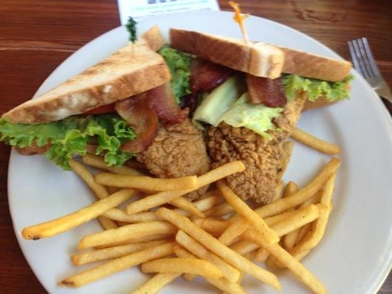 Swamp House Riverfront Grill: Fried Catfish BLT
