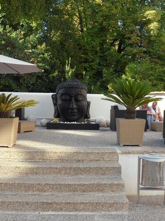 Hotel Villa de Biar: relaxing seated area