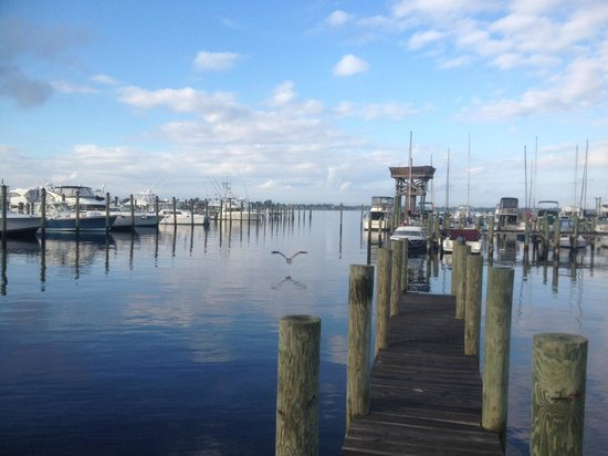 The Harbor Inn & Marina: View of St. Lucie River From Room 9