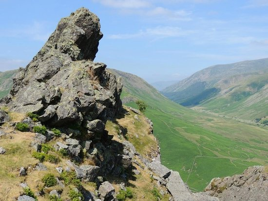 The Lancrigg Hotel: On Helm Crag behind the hotel