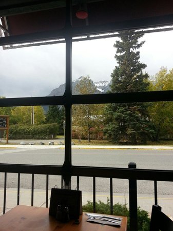Rocky Mountain Flatbread Company: View from our table