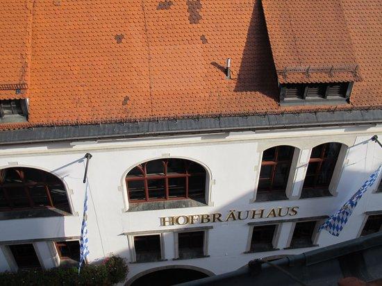Platzl Hotel: The Hofbrauhaus below... from room 505.