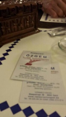 Ozgem: opnieuw genoten, en nadien nog een drankje van het huis.