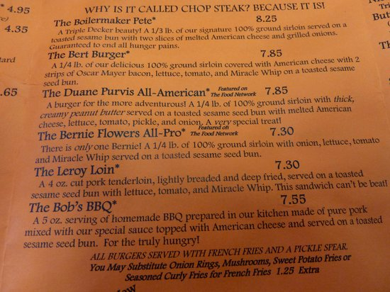 West Lafayette, IN: menu