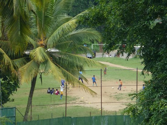Villa 49: Soccer field from our balcony