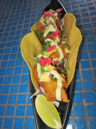 Blue Gecko Cantina: Hurricane Fried Fish Taco