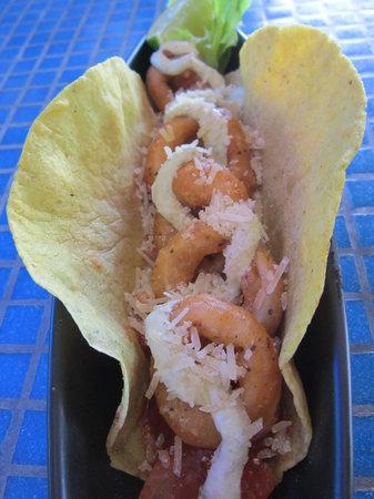 Blue Gecko Cantina: Fried Calamari Taco