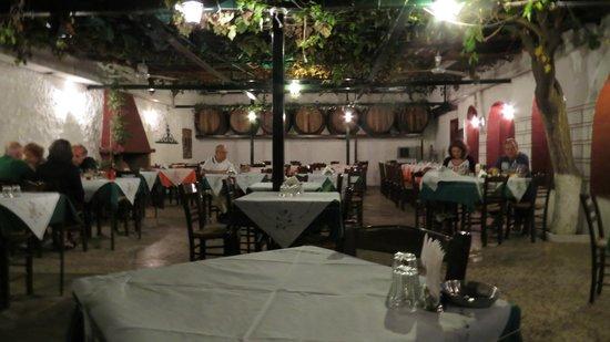 Karavitis Tavern : Outdoor area open during good weather.
