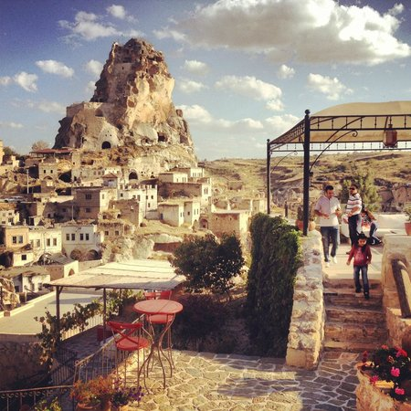 Hezen Cave Hotel: Vista dalle terrazze