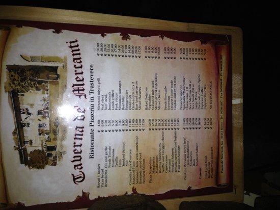 La Taverna de' Mercanti : Ammazza che prezzi!!