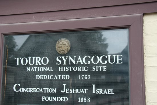 Touro Synagogue: Signage