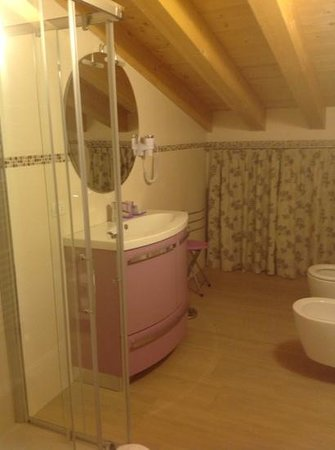 B&B La Casa di Rosa: bagno camera Glicine