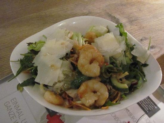 Vapiano : Großer Salat mit Garnelen
