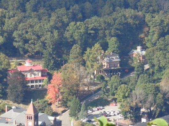 Asa Packer Mansion: Asa Packer & Harry Packer Mansions as seen from Flagstaff