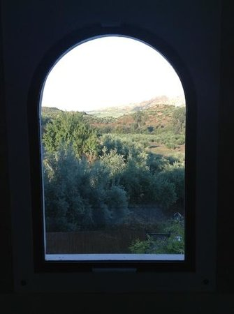 view through casa olea's picture window