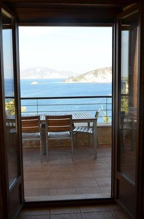 Exensian Villas & Suites : Balcony view