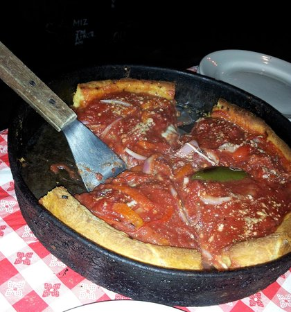 Chicago Fire Deep Dish Pizza Picture Of Ginos East Chicago
