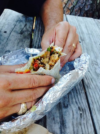 Eduardo's Taco Stand: Crabmeat shrimp avocado burrito. Best thing I ever ate.