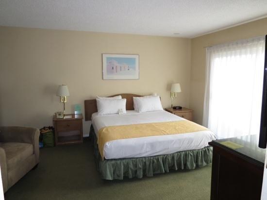 Hollywood Orchid Suites: lit king et balcon avec table et chaises