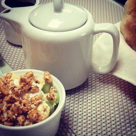 Amaru Hostal: .café da manhã com pipoquinha.
