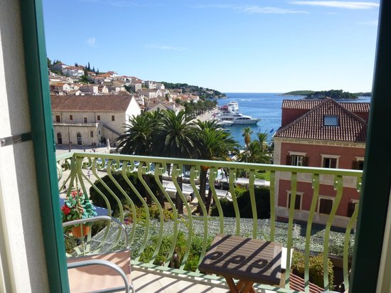 Hotel Park Hvar : View from Room 23 with Balcony