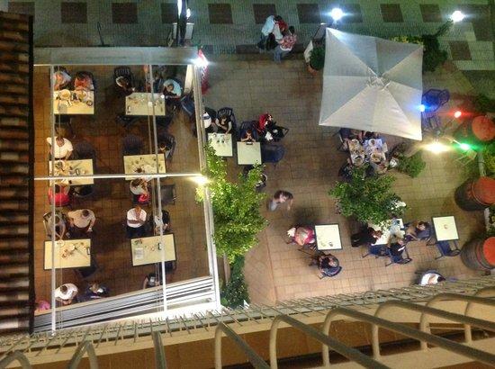 Hotel Miami : vue du resto du balcon
