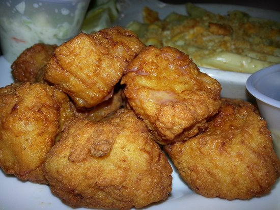 Sharky's Seafood and BBQ: Fried Scallops