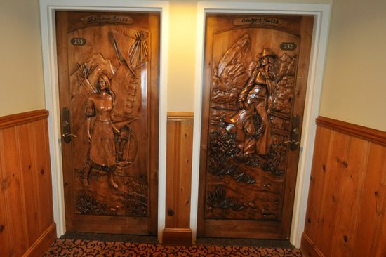 The Wort Hotel: door to the teton suit