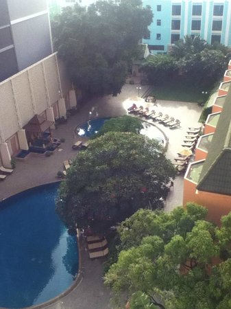 The Bayview Hotel: pool view from seaview room