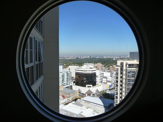 Meriton Serviced Apartments Bondi Junction: Another view looking west from the round window.
