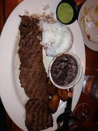 Padrino's Cuban Cuisine: ok, if I'd left the rice alone, the photo would be better, but it's an amazing skirt steak.