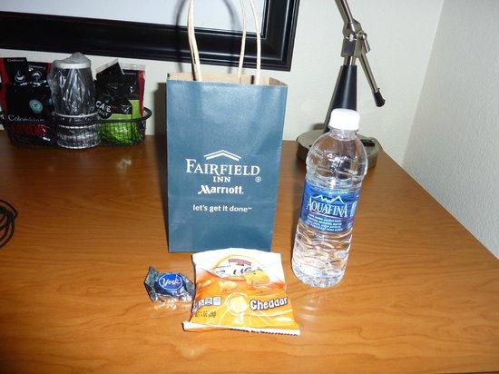 Fairfield Inn Portland Maine Mall: Welcome Gift