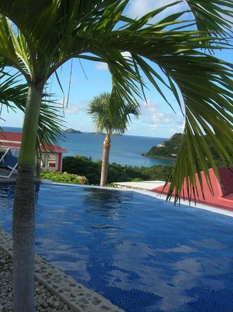 Hotel LeVillage St Barth: View from pool area
