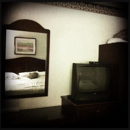 Americas Best Value Inn Decatur/Atlanta: Tv, counter, cabinet