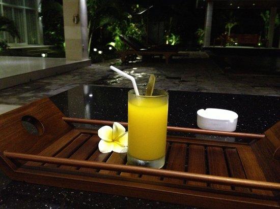 Villa Beachside: Welcome drink!