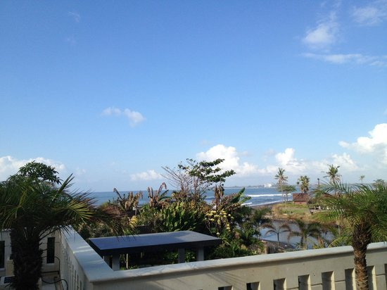 Villa Beachside: Ocean View from the terrace in front of our room!