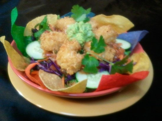 Coconut Shrimp Salad - Picture of The Tropical Grill, Spruce Pine ...