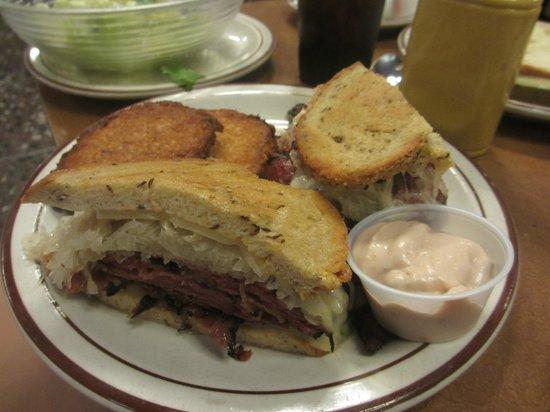 Canter's Deli: Corned beef Reuben sandwich