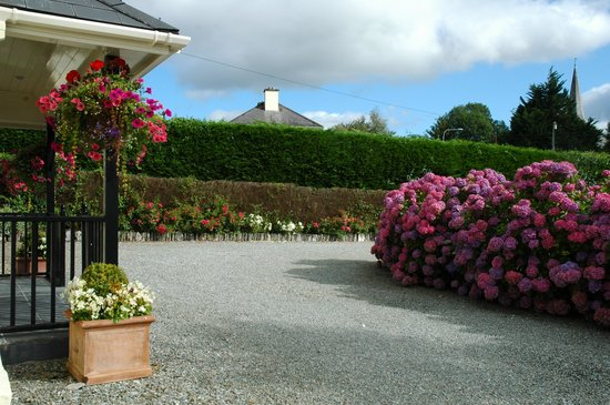 Whispering Pines B&B: front drive of B&B - best hydrangeas on the island!